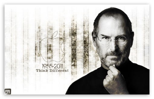 Think Different-Steve Jobs HD wallpaper for Wide 16:10 5:3 Widescreen WHXGA WQXGA WUXGA WXGA WGA ; Mobile 5:3 - WGA ;