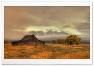 Thomas Alma Moulton Barn historical place, Teton County, Wyoming HD Wide Wallpaper for 4K UHD Widescreen desktop & smartphone