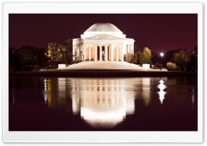 Thomas Jefferson Memorial at Night HD Wide Wallpaper for Widescreen