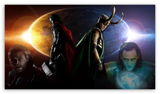 Thor and Loki 4K HD Desktop Wallpaper for 4K Ultra HD TV