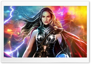 Thor Love and Thunder, Lady Thor, 2022 Movie Ultra HD Wallpaper for 4K UHD Widescreen desktop, tablet & smartphone