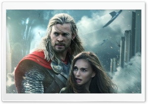 Thor the Dark World Natalie Portman and Chris Hemsworth HD Wide Wallpaper for Widescreen