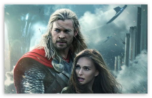 Thor The Dark World Natalie Portman And Chris Hemsworth 4k Hd
