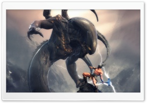 Thor vs Aliens HD Wide Wallpaper for Widescreen