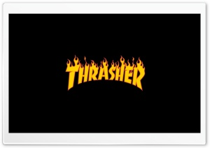 Thrasher Flaming Logo HD Wide Wallpaper for 4K UHD Widescreen desktop & smartphone