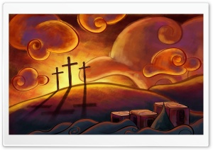 Three Crosses HD Wide Wallpaper for Widescreen