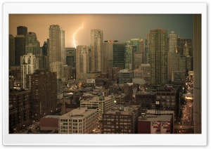Thunderstorm In Chicago HD Wide Wallpaper for 4K UHD Widescreen desktop & smartphone