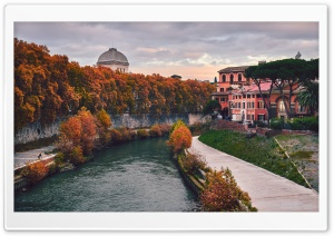Tiber Island, Rome, Italy HD Wide Wallpaper for 4K UHD Widescreen desktop & smartphone