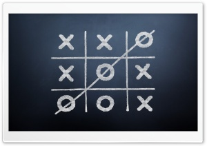 Tic Tac Toe Game HD Wide Wallpaper for 4K UHD Widescreen desktop & smartphone