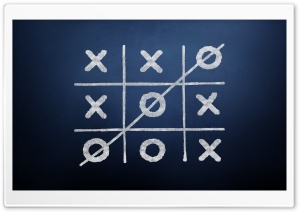 Tic-Tac-Toe Game Blue Background Ultra HD Wallpaper for 4K UHD Widescreen desktop, tablet & smartphone