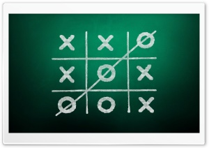 Tic-Tac-Toe Game Green Background Ultra HD Wallpaper for 4K UHD Widescreen desktop, tablet & smartphone