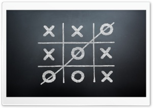 Tic Tac Toe Game Over HD Wide Wallpaper for 4K UHD Widescreen desktop & smartphone