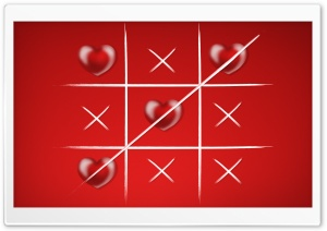 Tic Tac Toe Love Wins HD Wide Wallpaper for 4K UHD Widescreen desktop & smartphone