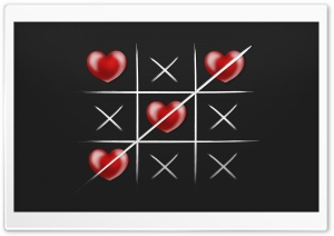 Tic-Tac-Toe Love Wins Ultra HD Wallpaper for 4K UHD Widescreen desktop, tablet & smartphone