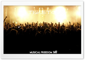 Tiesto Concert &amp; Musical Freedom HD Wide Wallpaper for Widescreen