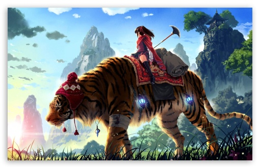 Tiger Ride Painting HD wallpaper for Wide 16:10 5:3 Widescreen WHXGA WQXGA WUXGA WXGA WGA ; HD 16:9 High Definition WQHD QWXGA 1080p 900p 720p QHD nHD ; Standard 4:3 5:4 3:2 Fullscreen UXGA XGA SVGA QSXGA SXGA DVGA HVGA HQVGA devices ( Apple PowerBook G4 iPhone 4 3G 3GS iPod Touch ) ; iPad 1/2/Mini ; Mobile 4:3 5:3 3:2 16:9 5:4 - UXGA XGA SVGA WGA DVGA HVGA HQVGA devices ( Apple PowerBook G4 iPhone 4 3G 3GS iPod Touch ) WQHD QWXGA 1080p 900p 720p QHD nHD QSXGA SXGA ;