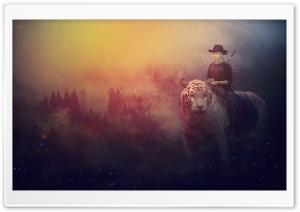 Tiger Rider HD Wide Wallpaper for Widescreen
