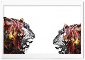 Tigers Art HD Wide Wallpaper for Widescreen