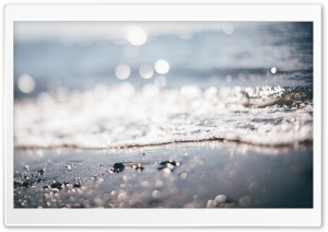 Tilt-Shift Beach Wave Bokeh HD Wide Wallpaper for Widescreen