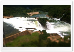 Tilt Shift Falls HD Wide Wallpaper for 4K UHD Widescreen desktop & smartphone
