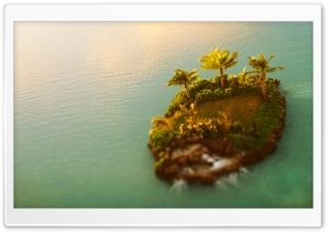 Tilt-shift Island HD Wide Wallpaper for Widescreen