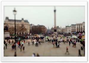 Tilt-Shift London Ultra HD Wallpaper for 4K UHD Widescreen desktop, tablet & smartphone