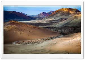 Timanfaya National Park, Canary Islands HD Wide Wallpaper for 4K UHD Widescreen desktop & smartphone