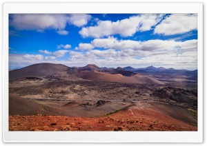 Timanfaya National Park, Island of Lanzarote, Canary Islands HD Wide Wallpaper for Widescreen