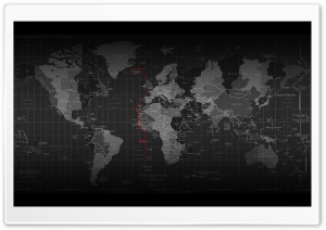 Time Zone Map HD Wide Wallpaper for Widescreen