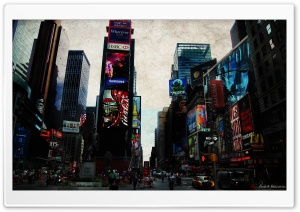 Times Square HD Wide Wallpaper for Widescreen