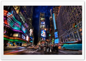 Times Square At Night HD Wide Wallpaper for Widescreen