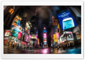 Times Square At Night HD Wide Wallpaper for 4K UHD Widescreen desktop & smartphone