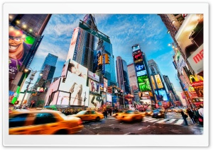 Times Square New York HD Wide Wallpaper for 4K UHD Widescreen desktop & smartphone
