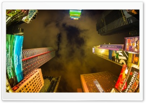 Times Square New York At Night HD Wide Wallpaper for Widescreen