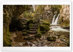 Tine de Conflens waterfall Ultra HD Wallpaper for 4K UHD Widescreen desktop, tablet & smartphone