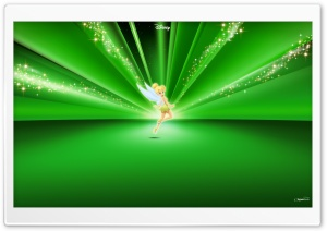 Tinkerbell Disney Green HD Wide Wallpaper for Widescreen