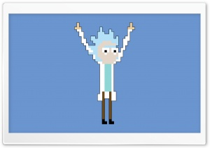 Tiny Rick Pixel HD Wide Wallpaper for 4K UHD Widescreen desktop & smartphone