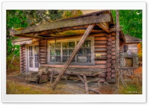 Tiny The Little Log Cabin HD Wide Wallpaper for Widescreen