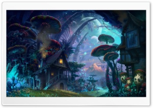 Tiny World Fantasy Art HD Wide Wallpaper for Widescreen
