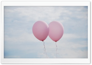 Together - Pink Balloons HD Wide Wallpaper for 4K UHD Widescreen desktop & smartphone