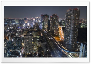 Tokyo at Night Ultra HD Wallpaper for 4K UHD Widescreen desktop, tablet & smartphone