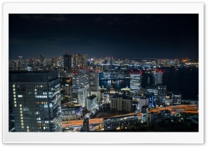 Tokyo Bay at Night HD Wide Wallpaper for 4K UHD Widescreen desktop & smartphone