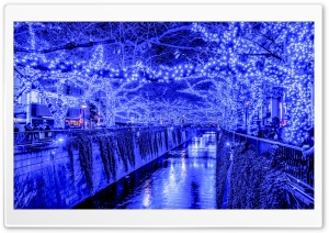 Tokyo Blue Grotto Japan HD Wide Wallpaper for Widescreen