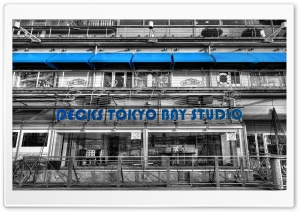 Tokyo Buildings Black and White HD Wide Wallpaper for Widescreen