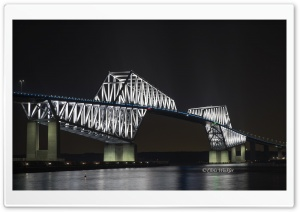 Tokyo Gate Bridge at Night HD Wide Wallpaper for Widescreen
