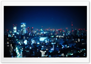 Tokyo, Japan   Bokeh City HD Wide Wallpaper for Widescreen