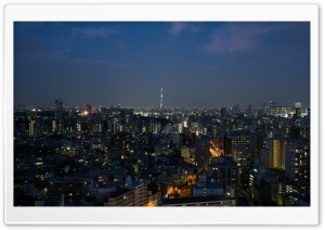 Tokyo Night HD Wide Wallpaper for Widescreen
