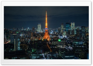 Tokyo Night View HD Wide Wallpaper for Widescreen