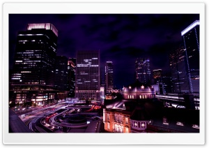 Tokyo night view, Japan HD Wide Wallpaper for Widescreen