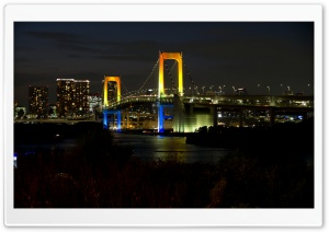 Tokyo Rainbow Bridge HD Wide Wallpaper for 4K UHD Widescreen desktop & smartphone